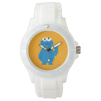 Cookie Monster Pixel Art Wristwatch