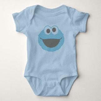 Cookie Monster Polka Dot Face Baby Bodysuit