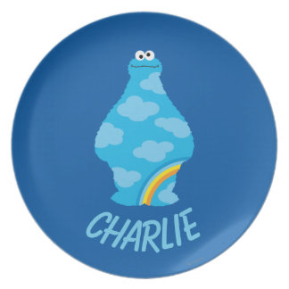 Cookie Monster Rainbows   Add Your Name Plate