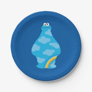 Cookie Monster Rainbows Paper Plate
