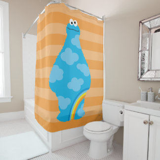 Cookie Monster Rainbows Shower Curtain