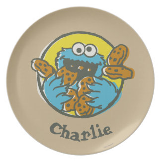 Cookie Monster Retro | Add Your Name Plate