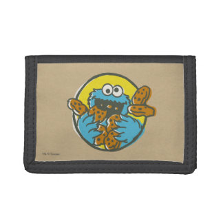 Cookie Monster Retro Trifold Wallet