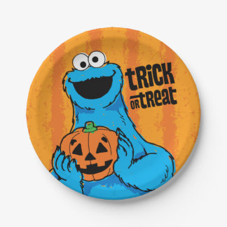 Cookie Monster - Trick Or Treat Paper Plate