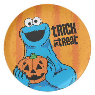 Cookie Monster - Trick Or Treat Plate