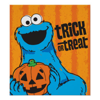 Cookie Monster - Trick Or Treat Poster