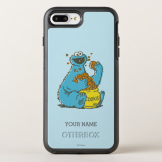 Cookie Monster Vintage | Add Your Name OtterBox Symmetry iPhone 8 Plus/7 Plus Case