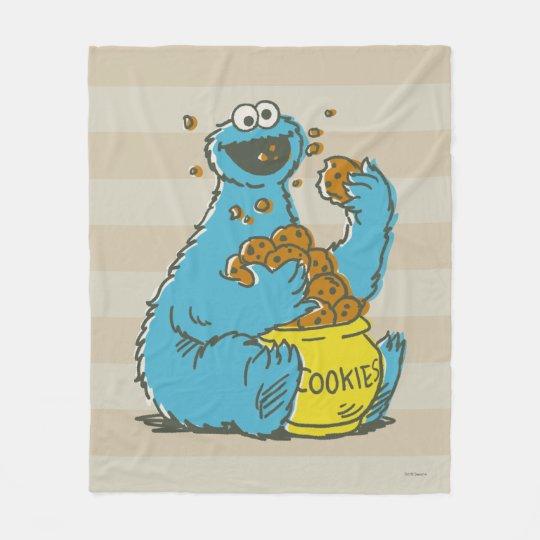 Cookie Monster Vintage Fleece Blanket