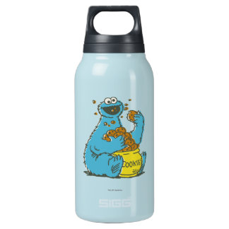 Cookie Monster Vintage Insulated Water Bottle