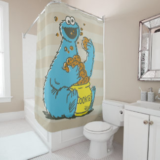 Cookie Monster Vintage Shower Curtain