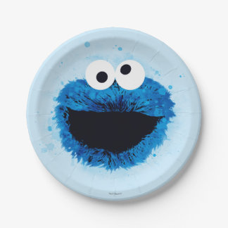 Cookie Monster | Watercolor Trend 7 Inch Paper Plate