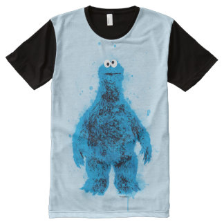Cookie Monster | Watercolor Trend All-Over Print T-Shirt