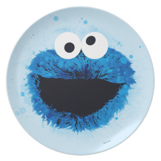 Cookie Monster | Watercolor Trend Dinner Plates