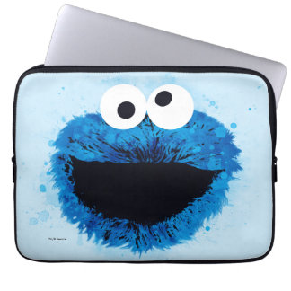 Cookie Monster | Watercolor Trend Laptop Sleeve