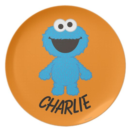 Cookie Monster Wool Style | Add Your Name Plate