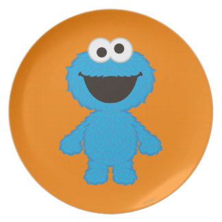Cookie Monster Wool Style Plate