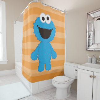 Cookie Monster Wool Style Shower Curtain
