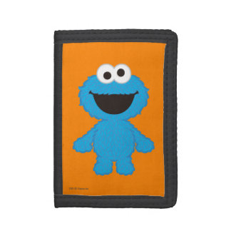 Cookie Monster Wool Style Tri-fold Wallet