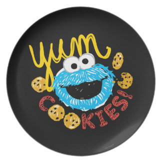 Cookie Monster Yum Plates