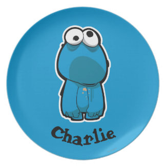 Cookie Monster Zombie | Add Your Name Plate