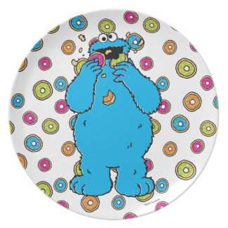 Cookie MonsterDonut Destroyer Dinner Plates