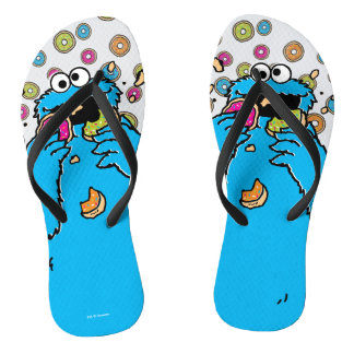 Cookie MonsterDonut Destroyer Flip Flops