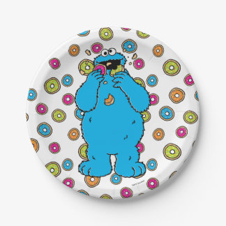 Cookie MonsterDonut Destroyer Paper Plate