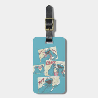 Cookie MonsterVintage Comic Panels Luggage Tag
