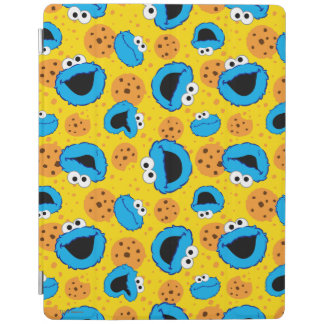 Cookie Monter and Cookies Pattern iPad Cover