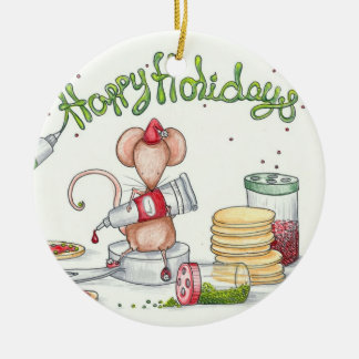Cookie Mouse Christmas Ornament