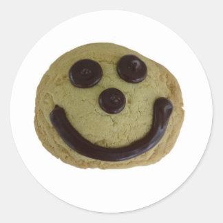 Cookie Smile! Classic Round Sticker