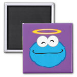 Cookie Smiling Face with Halo Square Magnet