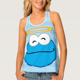 Cookie Smiling Face with Halo Tank Top