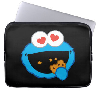 Cookie Smiling Face with Heart-Shaped Eyes Computer Sleeves