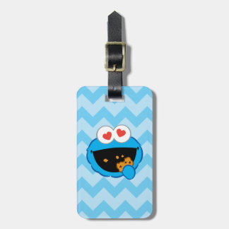 Cookie Smiling Face with Heart-Shaped Eyes Luggage Tag