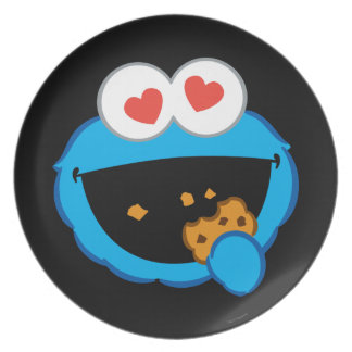 Cookie Smiling Face with Heart-Shaped Eyes Plate