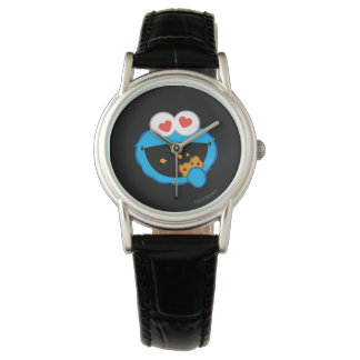 Cookie Smiling Face with Heart-Shaped Eyes Wrist Watch