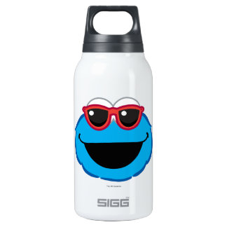 Cookie  Smiling Face with Sunglasses Insulated Water Bottle