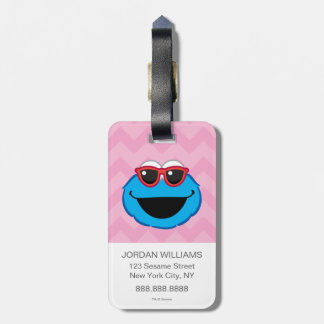 Cookie  Smiling Face with Sunglasses Luggage Tag