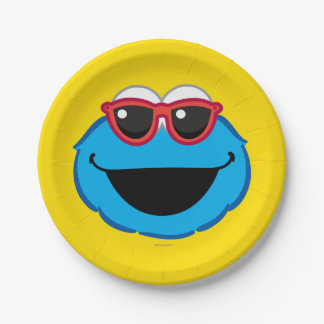 Cookie  Smiling Face with Sunglasses Paper Plate