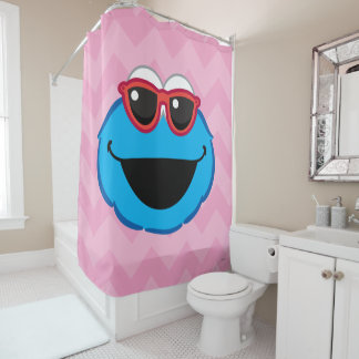 Cookie  Smiling Face with Sunglasses Shower Curtain