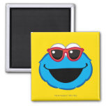 Cookie  Smiling Face with Sunglasses Square Magnet