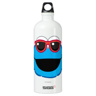 Cookie  Smiling Face with Sunglasses Water Bottle