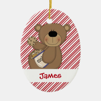 Cookie Teddy Christmas Ornament