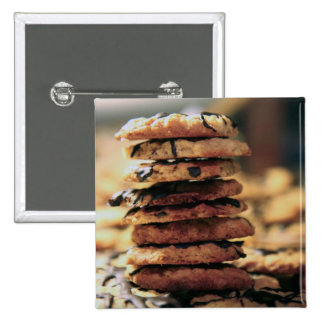 cookie tower 15 cm square badge