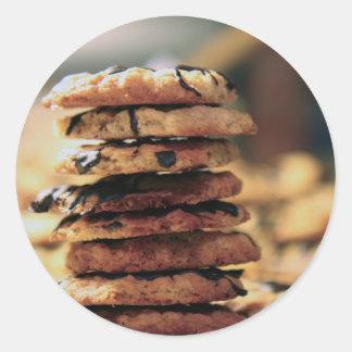 cookie tower classic round sticker