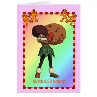 Cookie with gingerbread men card