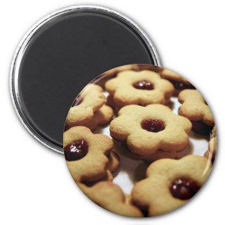 cookies 6 cm round magnet