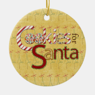 Cookies and Candy for Santa Claus Christmas Ornament