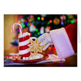 Cookies and Milk for Santa Christmas Greeting Card